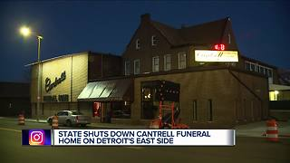 Funeral home in Detroit shut down due to multiple violations