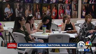 Students planning National Walk Out for March