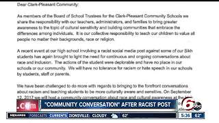 Indiana high school hosts community conversation after racist social media post - Video