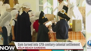 Gym turned into 17th century colonial settlement - Video