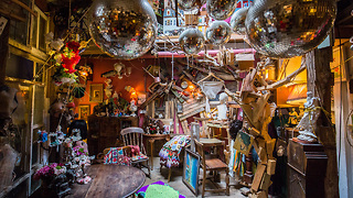 Artist Transforms Garage Into London's Weirdest Home