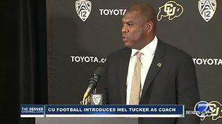Mel Tucker introduced as new head football coach at the University of Colorado