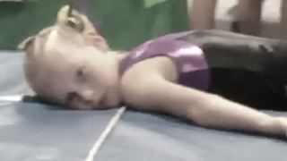 Little Girl Fails At Vaulting