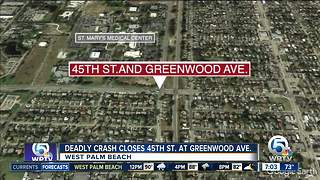 Deadly crash in West Palm Beach - Video