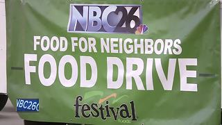 Festival Foods and NBC26 team up for food drive - Video