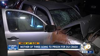 Mother of three going to prison for DUI crash - Video