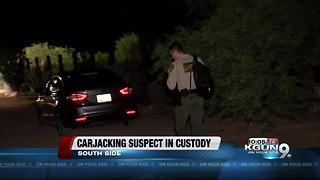 Carjacking suspect in custody - Video