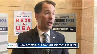 PolitiFact Wisconsin: Walker's accessibility to the public - Video