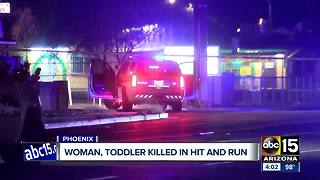 Woman and grandchild killed in hit-and-run crash in south Phoenix