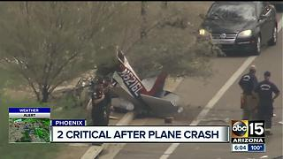 Plane down on roadway after departing from Deer Valley Airport - Video