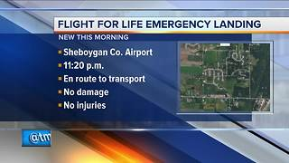 Mechanical issues force Flight-For-Life helicopter to make emergency landing in Sheboygan County