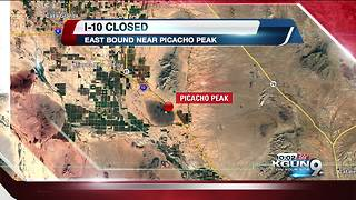 Crash closes eastbound I-10 near Picacho Peak - Video
