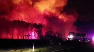 Bushfire Breaks Containment Lines in Northern NSW Coast - Video