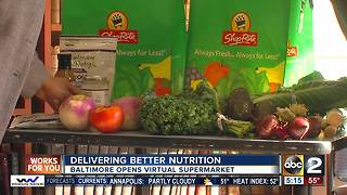 Delivering better nutrition: Baltimore opens virtual supermarket - Video
