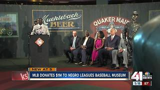 MLB, players union donate $1M to Negro Leagues museum in KC - Video