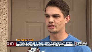 Parents stunned by police chase through Henderson park