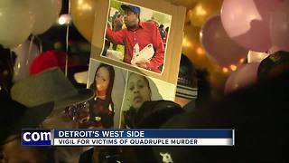 Victims in Detroit quadruple homicide remembered during vigil - Video