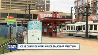 Ice at Canalside gears up for opening 2017-2018 season - Video