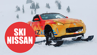 Nissan transform convertible sports car into the ultimate snowmobile - Video