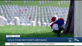 A Gold Star mother's message