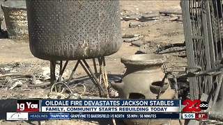 Jackson Stables rebuilding after fire destroyed the property - Video