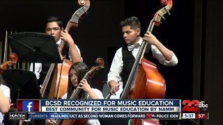 BCSD honored for music education