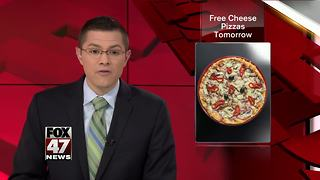 Happy's Pizza will offer free cheese pizza Tuesday - Video