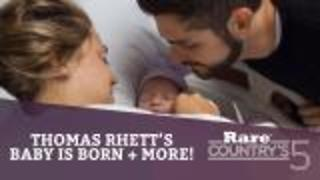 Thomas Rhett's baby is born + More | Rare Country's 5 - Video