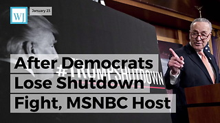 After Democrats Lose Shutdown Fight, MSNBC Host Tweets That The Media Is Biased Toward Republicans - Video