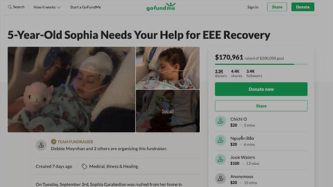 Over $170,000 donated to child with rare EEE disease