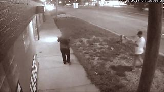 Cold-blooded killer caught on camera - Video