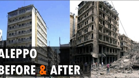 Aleppo , Before and after images