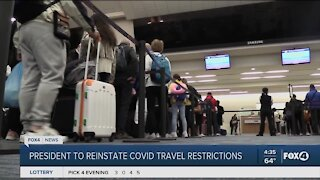 President Biden works on travel restrictions amid the pandemic