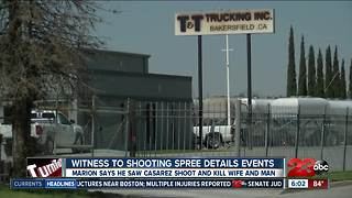Witness of shooting spree details events