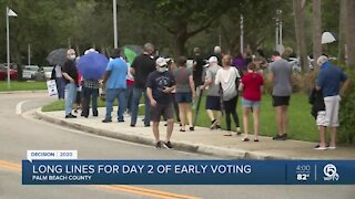 Voter greeted by long lines at voting site near Delray Beach
