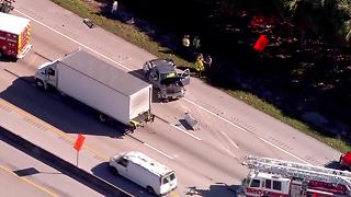 Crash on the Florida Turnpike - November 8, 2017 - Video