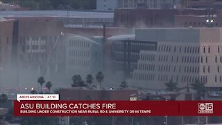 ASU building catches fire in Tempe