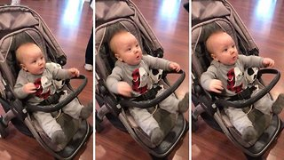 HILARIOUS VIDEO OF BABY'S REACTION TO HAIRDRYER