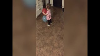 Baby Girl Learns about Balloons - Video