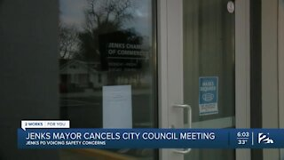 Jenks mayor cancels city council meeting