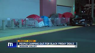 San Diegans camping out early for Black Friday deals - Video