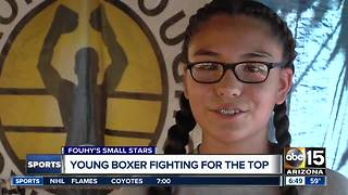 Young Valley boxer fighting for the top - Video