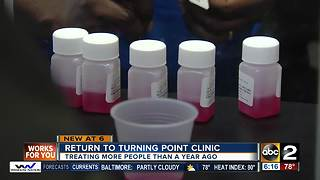 Turning Point Clinic treating more people than a year ago - Video