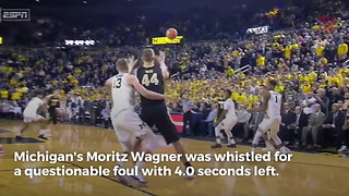 Controversial Foul Call Helps No. 5 Purdue Beat Michigan - Video