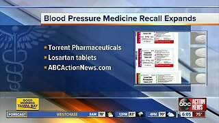 Blood pressure medication recall expanded over cancer concerns