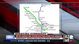 Metro SubwayLink System shuts down for weekend - Video