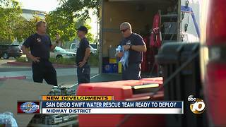 San Diego Swift Water Rescue Team ready to deploy - Video