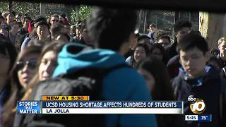 Housing shortage Affects Hundreds of UCSD Students - Video
