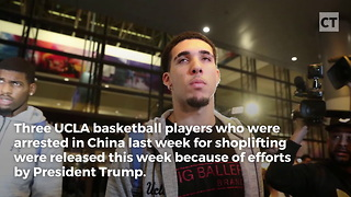 Trump Gives Advice to Freed Athletes - Video