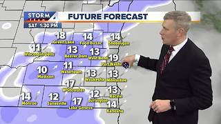 Snow flurries possible late Saturday - Video